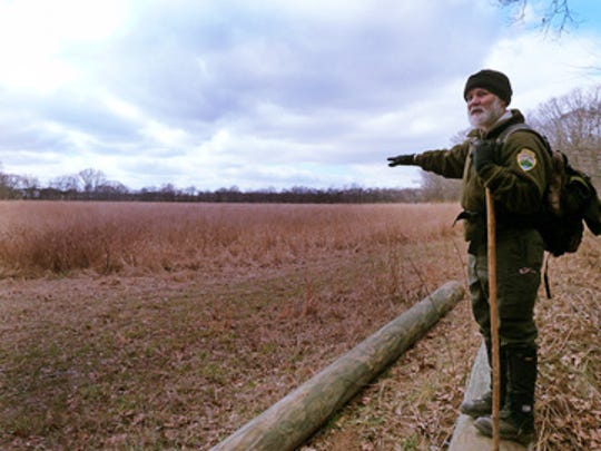 State Naturalist Randy Hedgepath stands above the wetlands at Henry Horton State Park, where there will be a night hike on All Parks Hike Day.