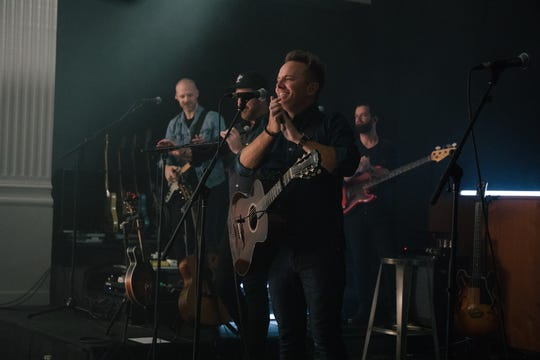 "Chris Tomlin recorded a live version of his new album ""Holy Roar"" in a Nashville church."