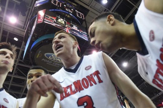 Dylan Windler (3) had gotten Belmont into position to possibly receive its first at-large berth in the NCAA tournament.