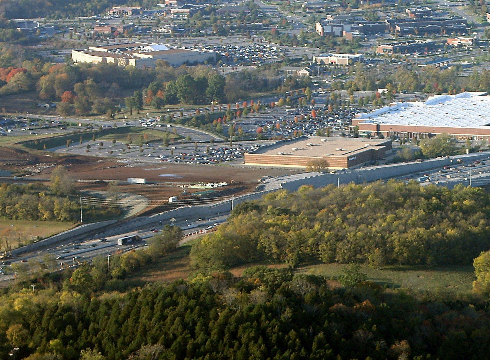 In 2006, the Southern Land Co. was planning a development called McEwen Place for the land directly behind Driver's Way, left, and the Thoroughbred Cinema, top, between Mallory Lane and Cool Springs Boulevard.