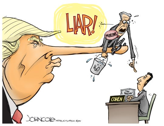 cohen and trump lies