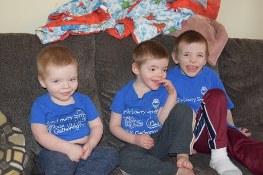 Isaac, 2, Liam, 4 and Quinten Nice, 7, have all been diagnosed with Coffin-Lowry Syndrome, a rare genetic disorder. The family believes their sons are the only ones in Ohio with the disease and are working to raise awareness.