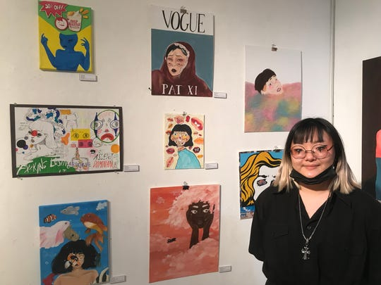 Palisades Park high school senior Yubin Im had her artwork featured at the Riverside Gallery at the Riverside mall in Hackensack on March 14.