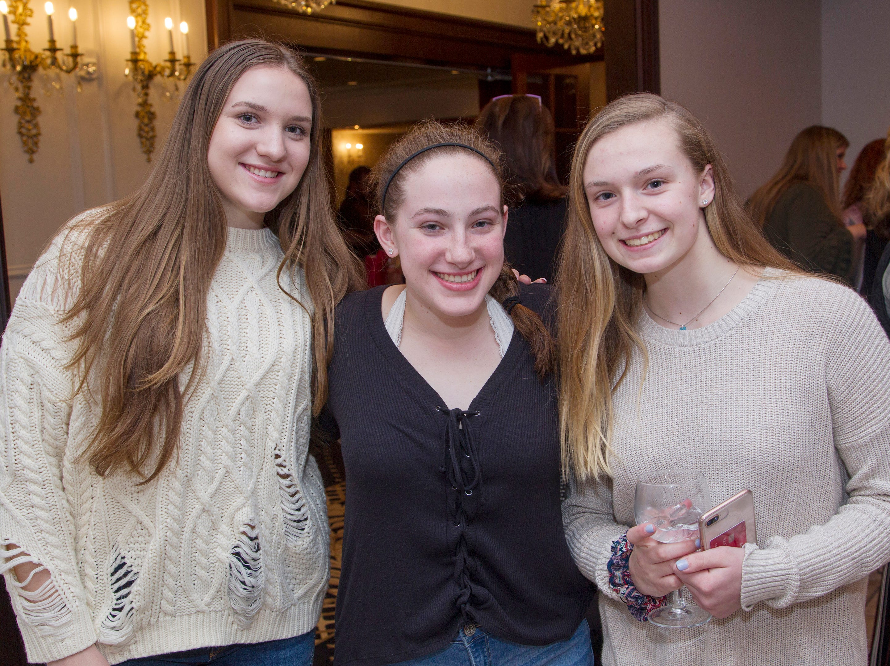 Grace, Emma, Emily. Waldwick High School held its Project Graduation Fashion Show at Macaluso's in Hawthorne. 03/13/2019