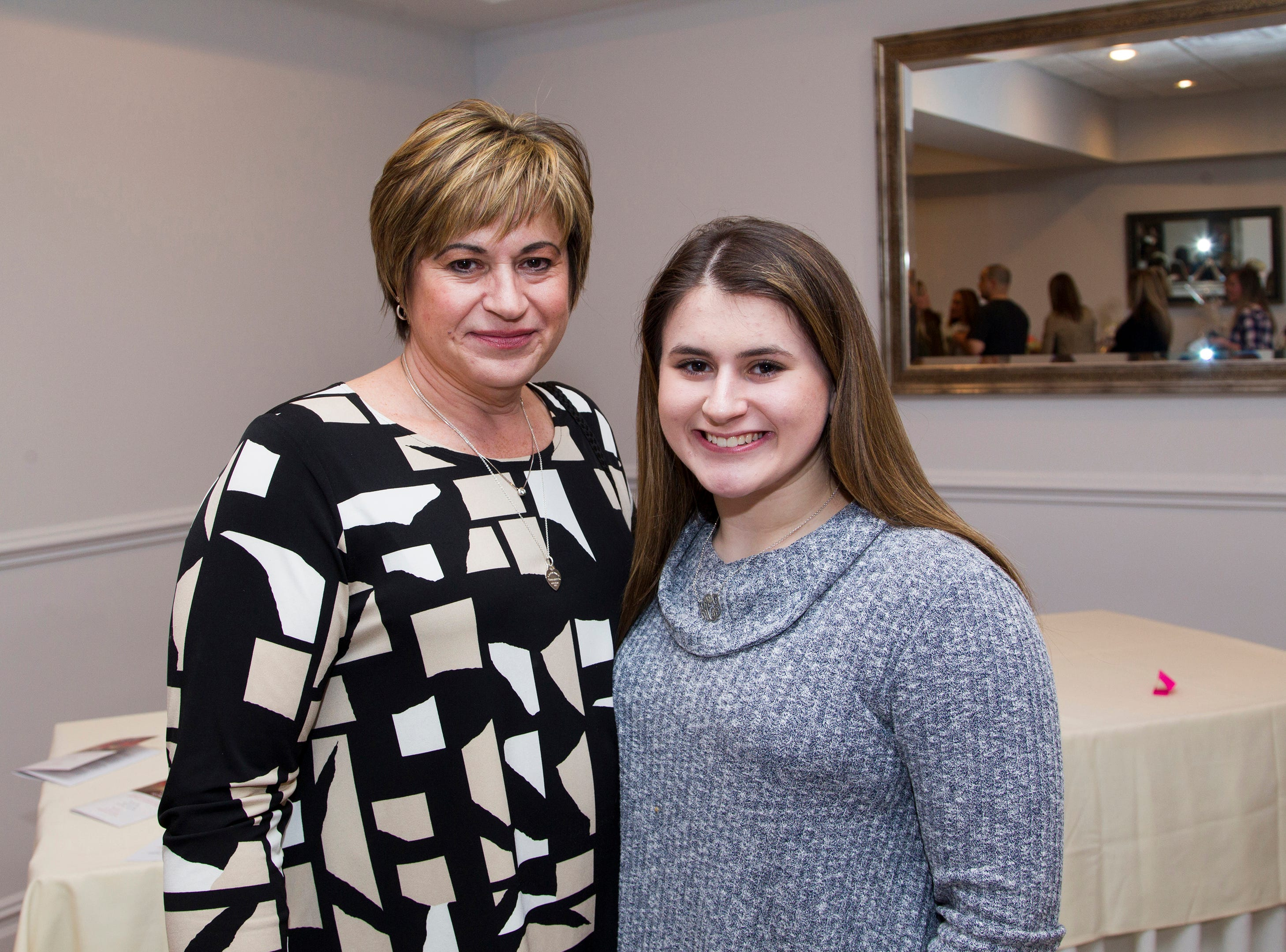 Kacie and Kara Centineo. Waldwick High School held its Project Graduation Fashion Show at Macaluso's in Hawthorne. 03/13/2019