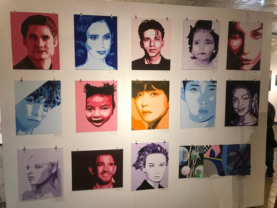 Palisades Park high school art students had their work featured at the Riverside Gallery at the Riverside mall in Hackensack on March 14.