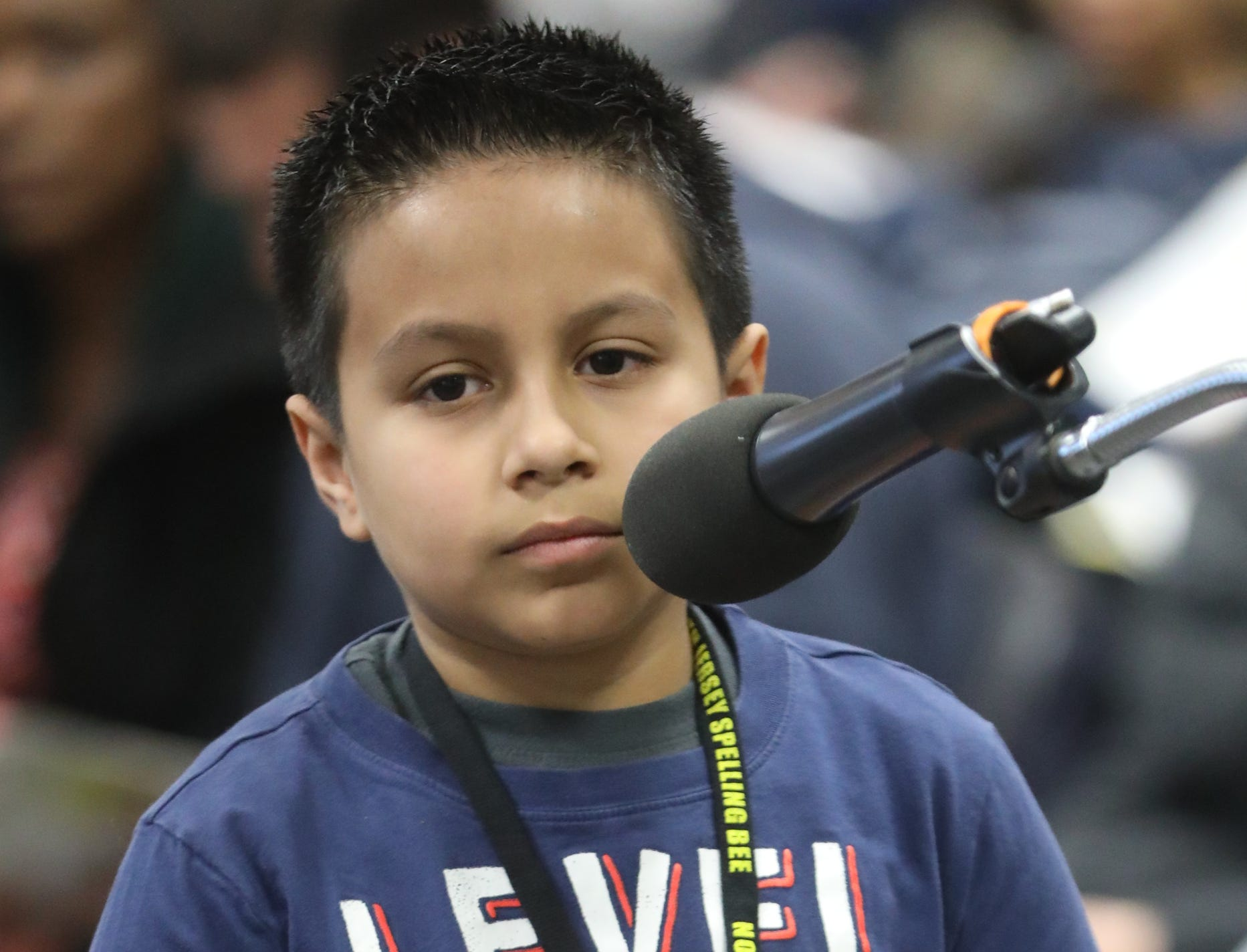 Nicholas Lopez, competes in the first round of the 2019 North Jersey Spelling Bee, in Paramus. Thursday, March 14, 2019