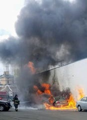 Firefighters respond to River Street in Hackensack March 15, 2019.