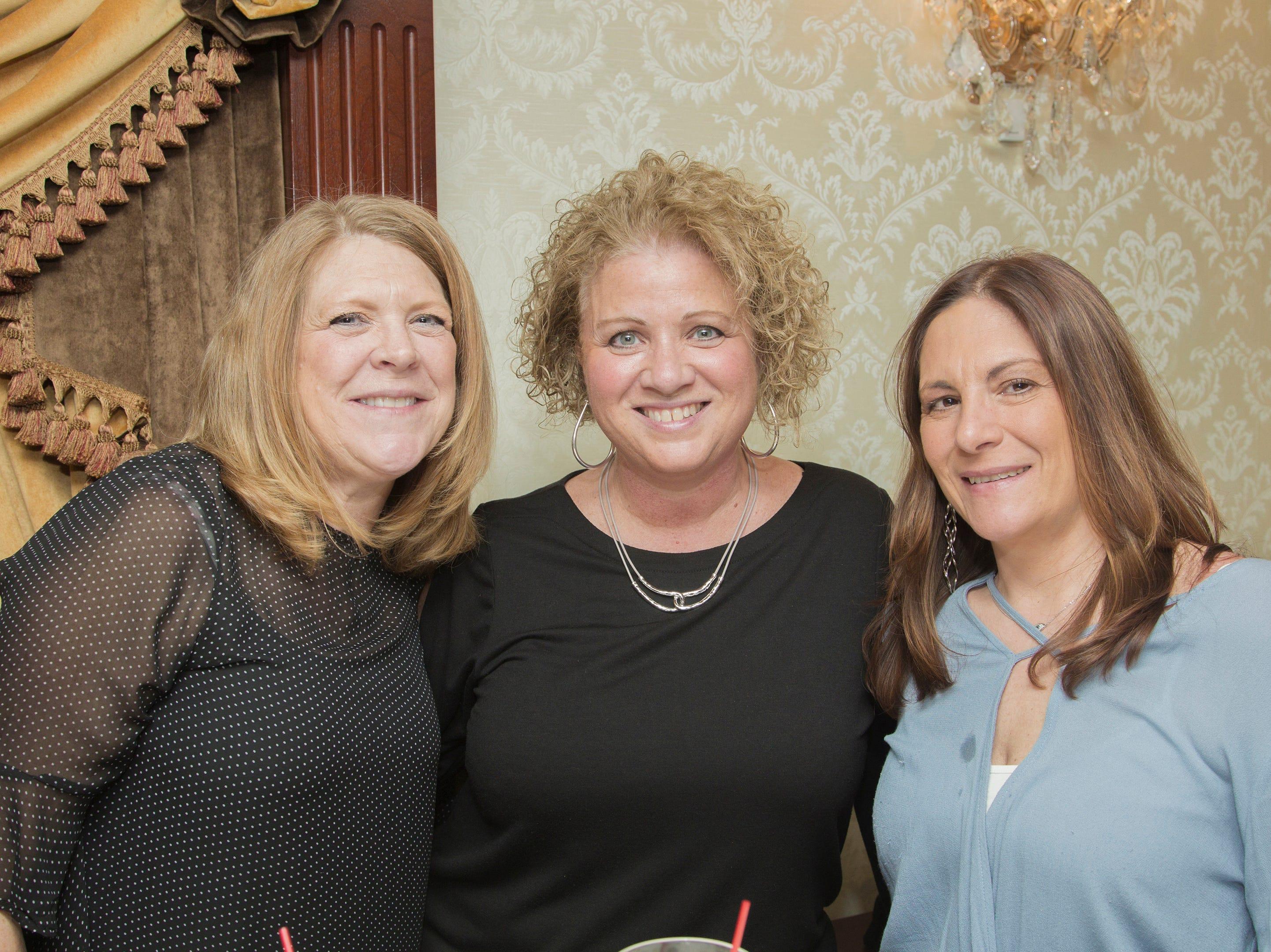 Barbara Moran, Loretta Schatz, Desiree Orsino. Waldwick High School held its Project Graduation Fashion Show at Macaluso's in Hawthorne. 03/13/2019