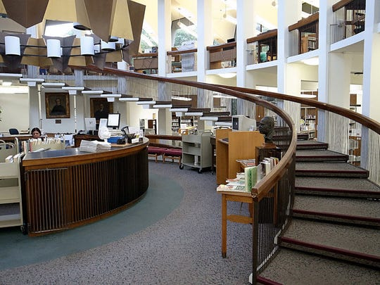 The interior of Englewood Public Library, which needs to become more ADA compliant among other updates