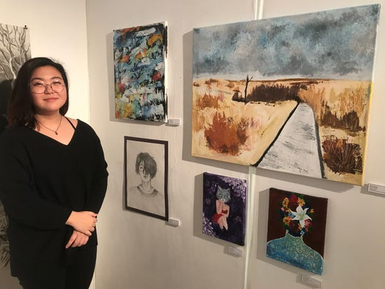 Palisades Park high school senior Joyce Kang  had her artwork featured at the Riverside Gallery at the Riverside mall in Hackensack on March 14.