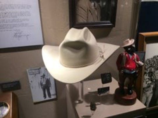 A hat worn by Cruz Fernandez is on display at the Carlsbad Hall of Fame in the Carlsbad Museum and Art Center.