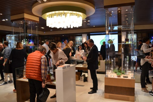 Guests to The Leaf grand opening party were able to view and purchase goods. March 14, 2019.