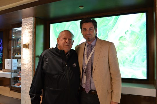 Owner of 'The Leaf' R.D Hubbard (left) along with general manager, Paul Cotterell. March 14, 2019.