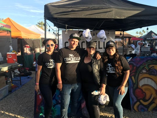 Erick Becerril, center left, organized the pilot Coachella Food Truck Part event, which he said drew nearly 10,000 visitors over three days in its first weekend.