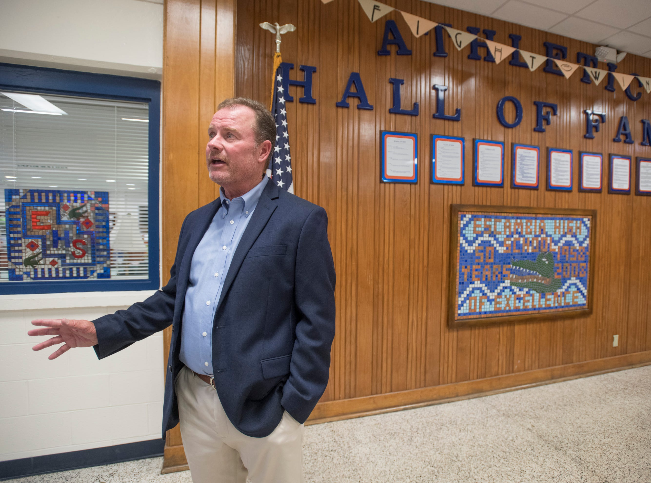 Hall of Fame class of 2018-2019 inductee Joe Durant talks about his career at Escambia High School in Pensacola on March 14, 2019.