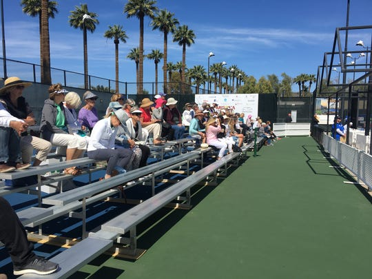 Fans watch the 2019 Arizona Tennis Classic at Phoenix Country Club.