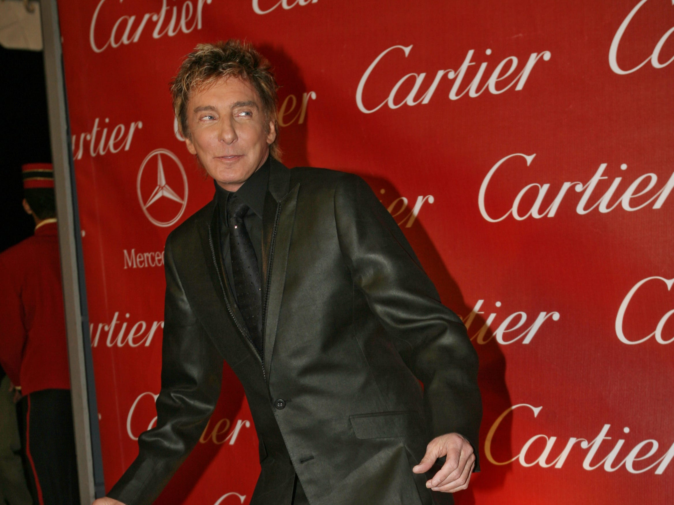 Barry Manilow hits the red carpet at the Palm Springs International Film Festival on Jan. 5, 2007, in California.
