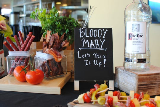 The Bloody Mary bar at ZuZu at the Hotel Valley Ho