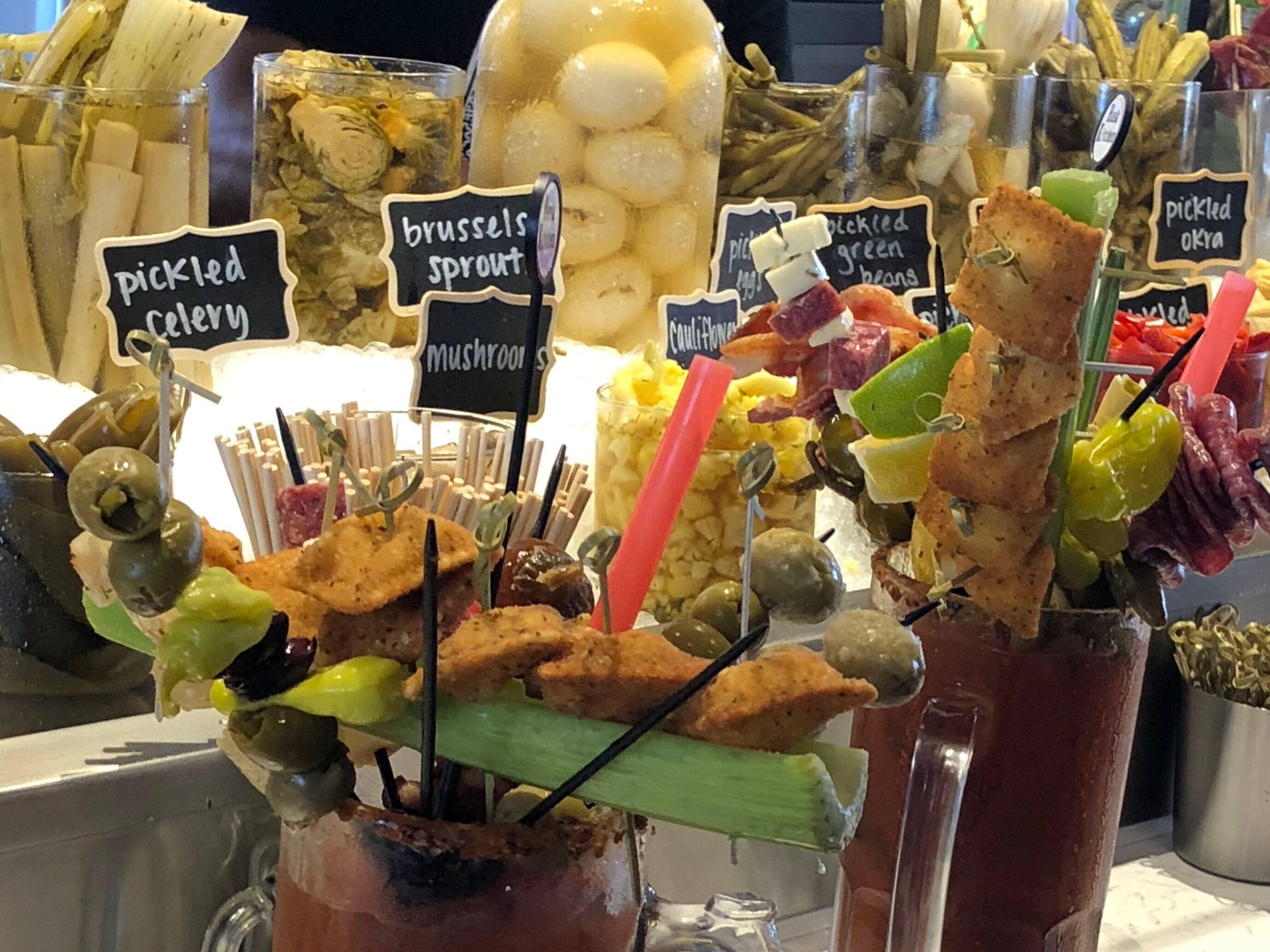 The Bloody Mary bar at Hash Kitchen