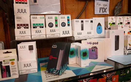 Vaping products are on display at Hippy Gypsy in Tempe.