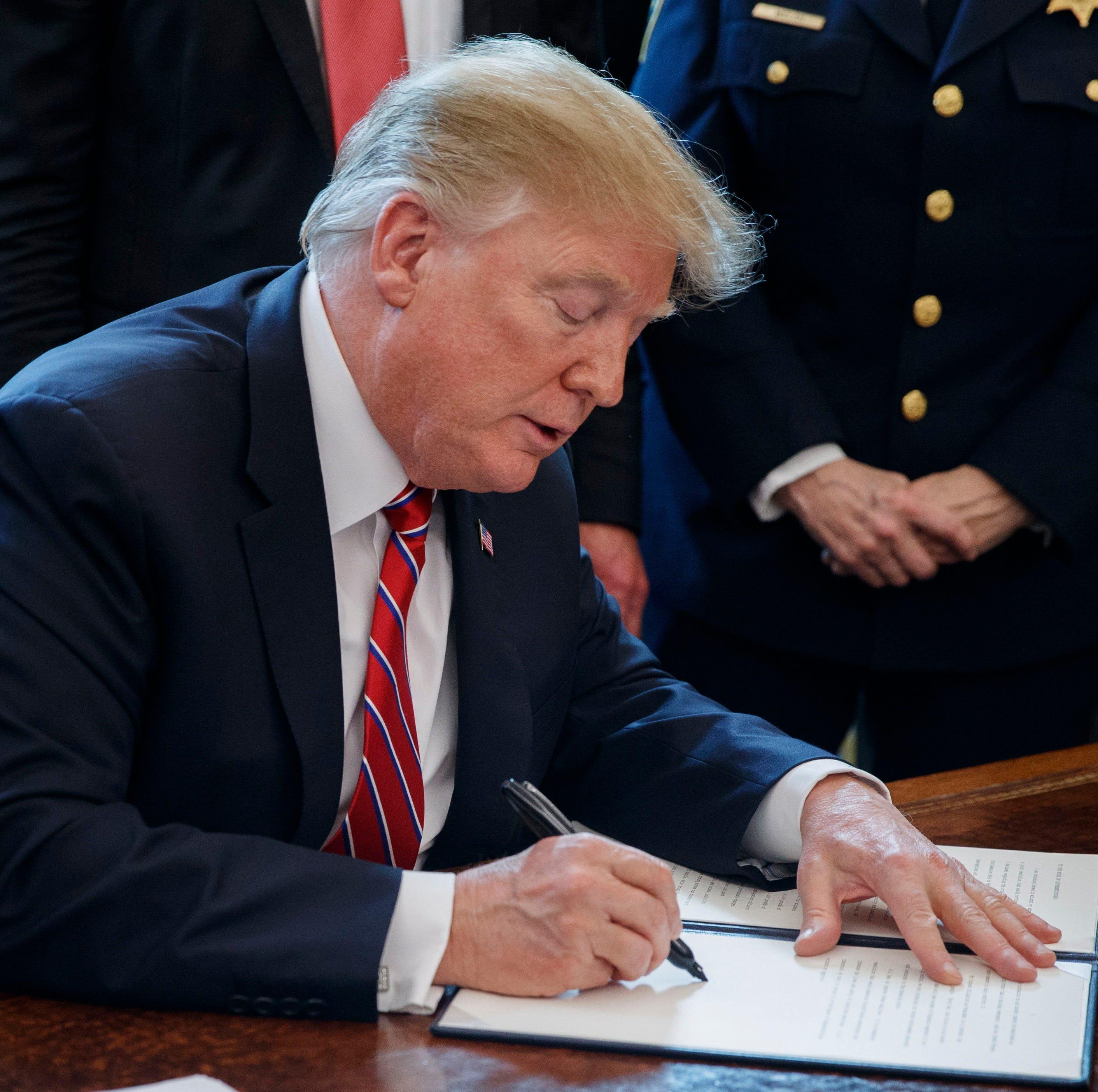 Trump emite el primer veto de su mandato