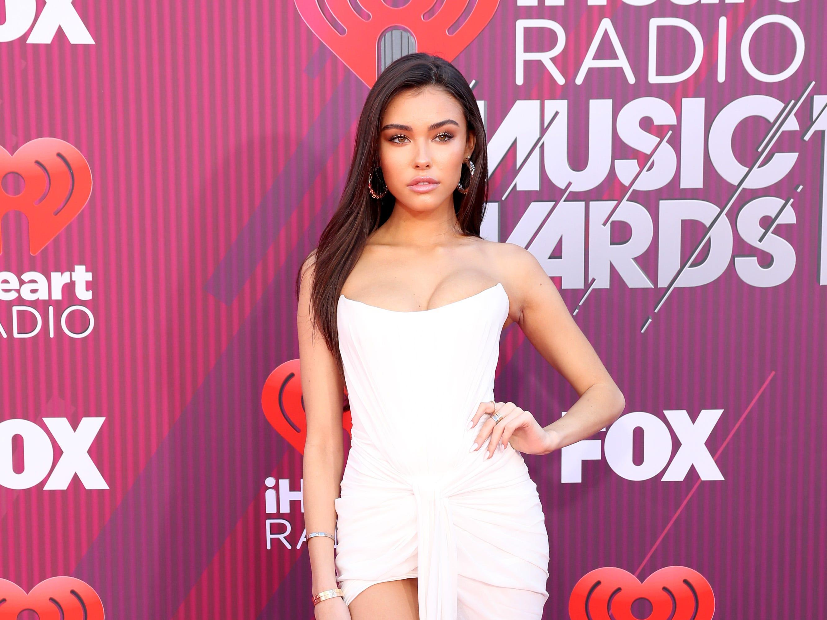 Madison Beer a su llegada a los premios iHeart Radio Music Awards en 2019 el 14 de marzo de 2019 en Los Angeles, California.