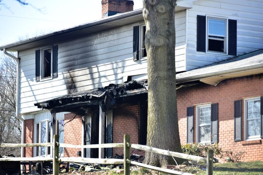 Residents sustained injuries as a result of a fire at about 1 a.m. Thursday at this home at 2656 Falling Spring Road in Guilford Township, according to Pennsylvania State Police. Family members were injured while escaping through a broken-out window, police said. The occupants got out before emergency personnel arrived, assisting agency Fayetteville Fire Company said in a Facebook post. Police did not state the severity of the injuries or how many people were at the home. The cause of the fire is under investigation. Public Opinion contacted the chief of New Franklin Volunteer Fire Company, the lead agency on the fire, but did not hear back by deadline.