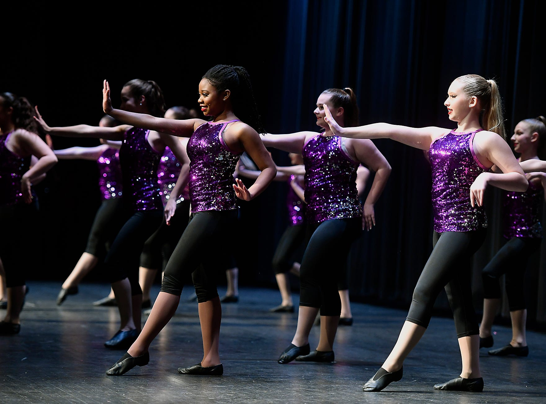 Dazzling Gems Dance Company performs during the Spring Grove Area High School third annual Diversity Festival, Thursday, March 13, 2019
