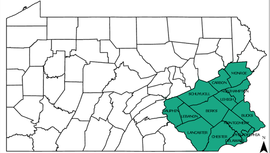 The Spotted Lanterfly quarantine map expanded to Dauphin County on March 15, 2019.