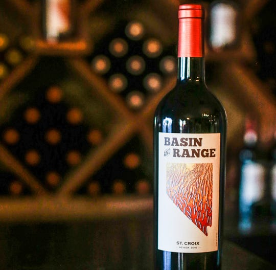 Basin and Range Cellars produces two red wines, including this inky plummy St. Croix.