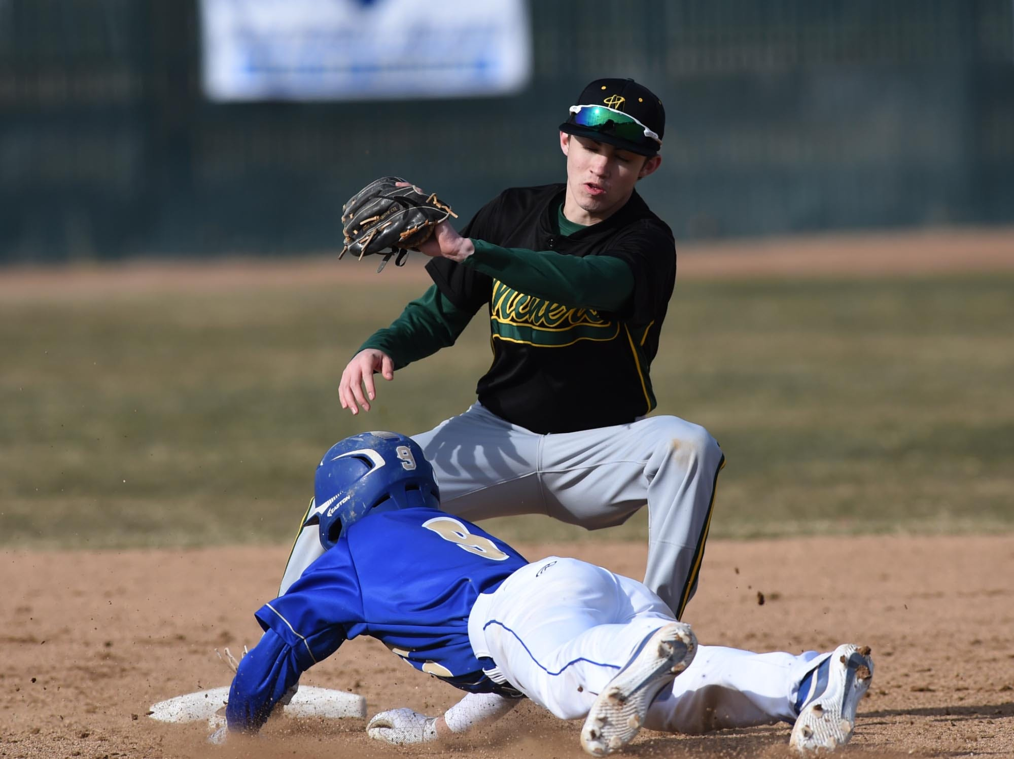 Images from the Bishop Manogue at Reed boys baseball game on Thursday March 14, 2019.