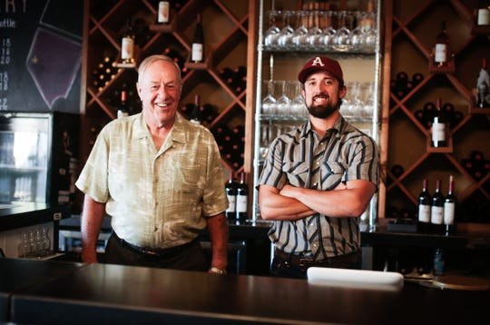 Joe Bernardo, left, and Wade Johnston are the founders and owners of Basin and Range Cellars of Reno, which opened in June 2018.