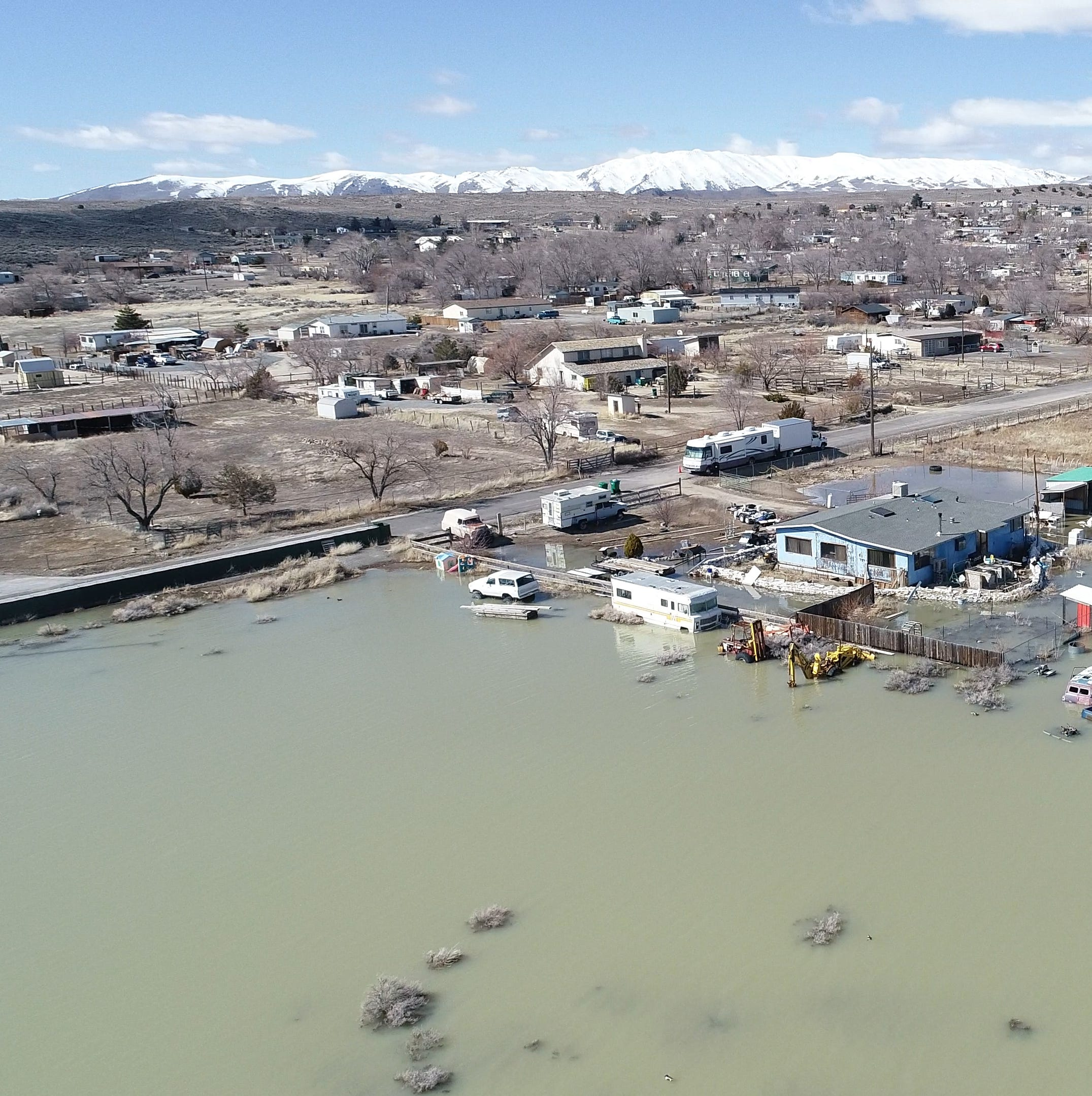Swan Lake water rising again in Lemmon Valley — and nearby residents are worried