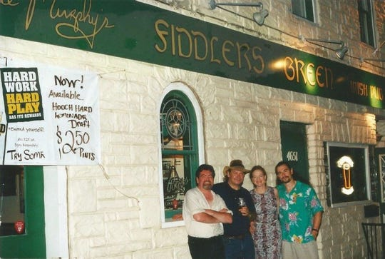 Circa 2001: Members of the Wild Geese band from left: Kevin Reynolds, Eamonn McCormack, Maeve and Ben Mac An Tuile. Ben's sister (the late Annie Murphy) owned the bar.