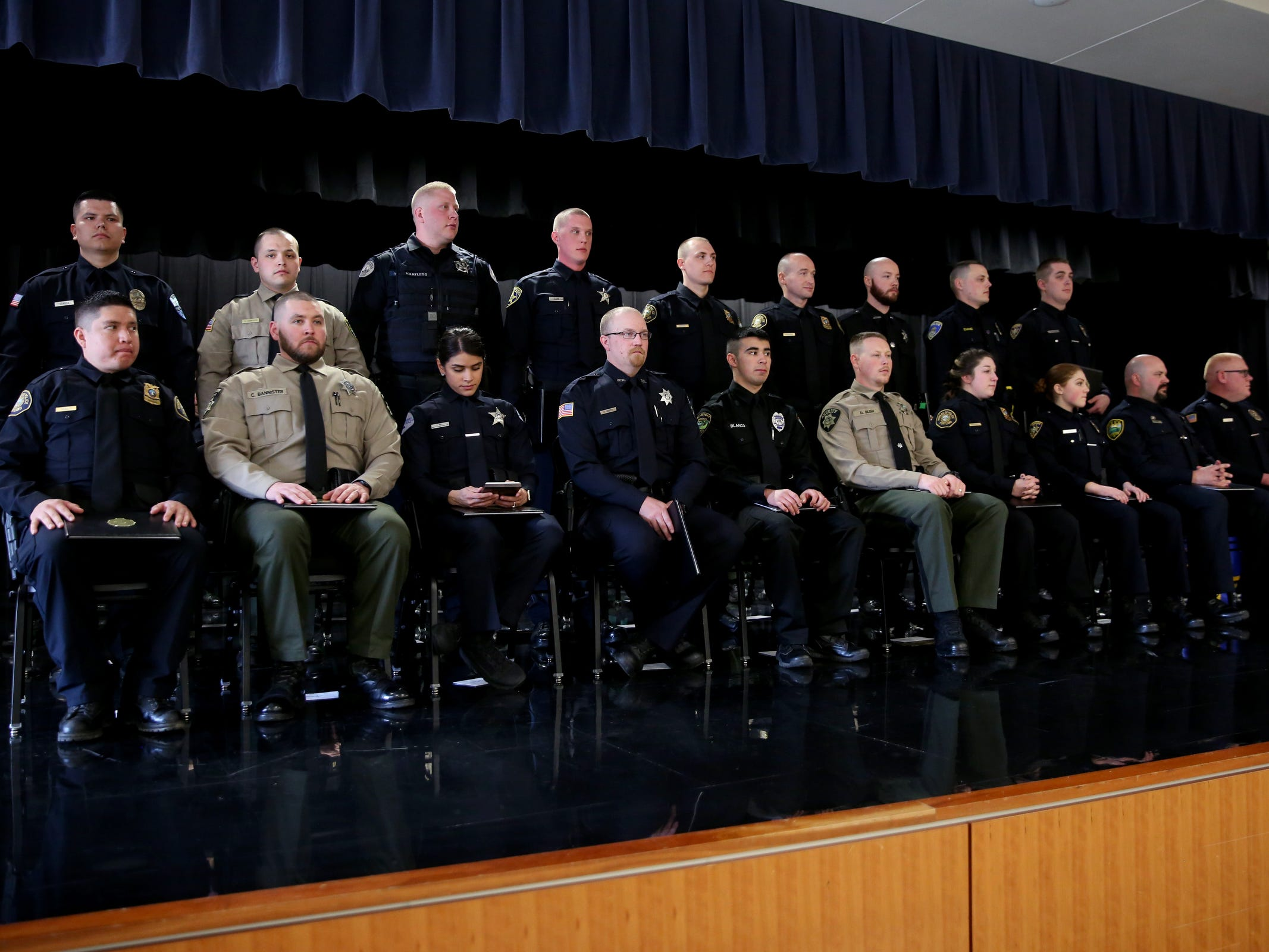 A Basic Police Class graduation ceremony at the Department of Public Safety Standards and Training in Salem on March 15, 2019.