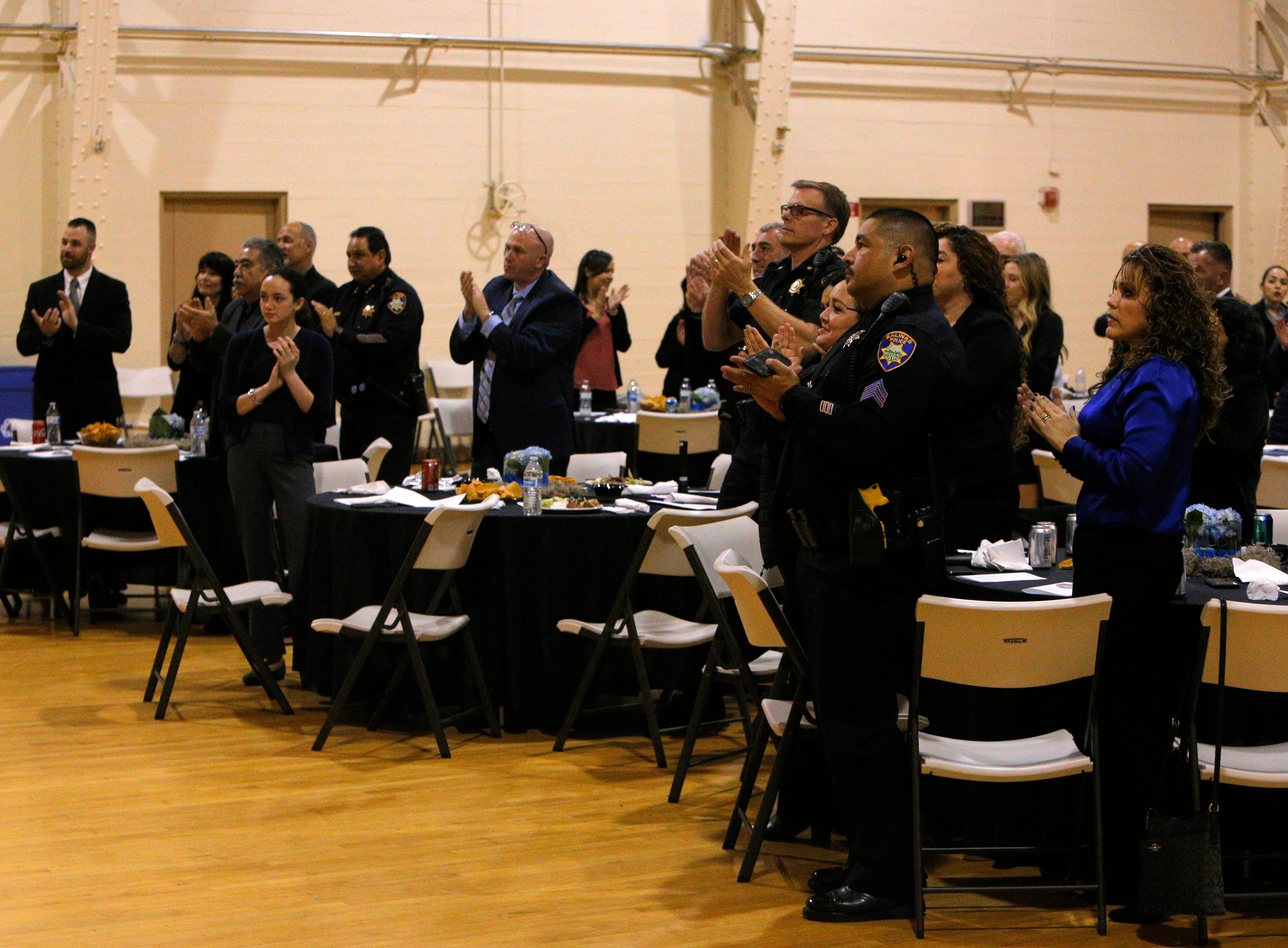 The audience applauds March 14, 2019, at the Salinas Police Department's 2018 awards ceremony.