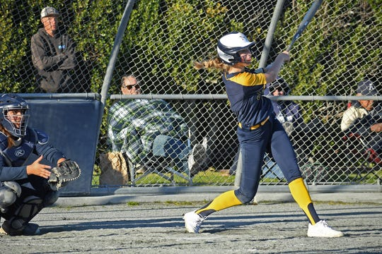 Sophomore Corrine Sargenti's led the team in batting average to start the season.