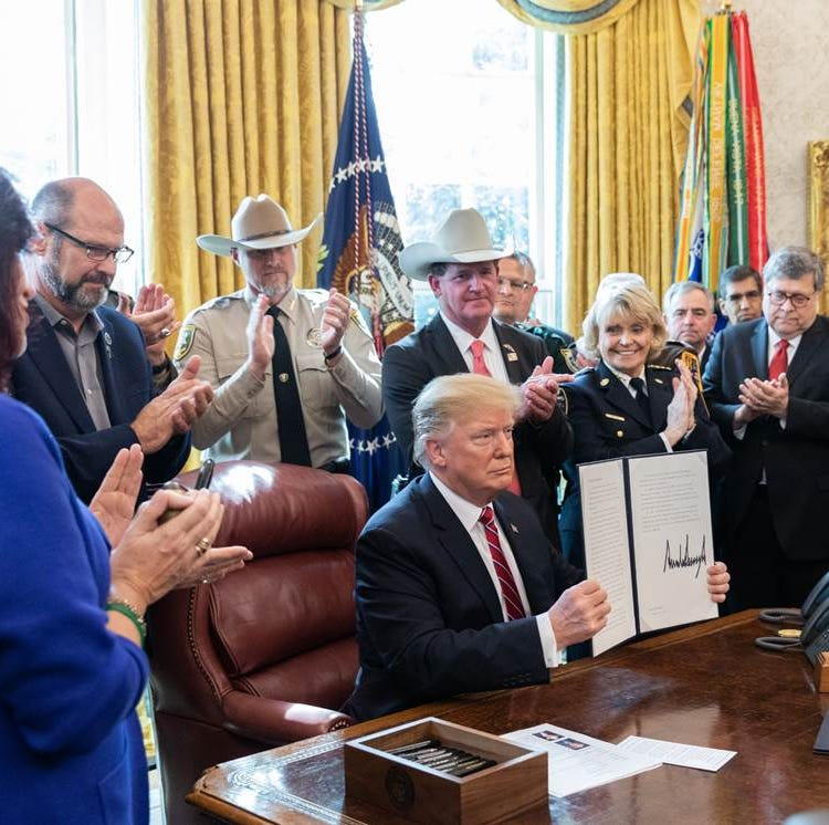 Wicomico Sheriff Mike Lewis joins Trump at White House for his first veto