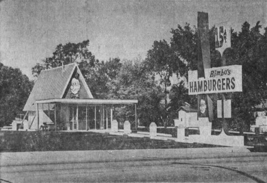 Bimbo's Hamburgers at the time of opening in Sioux Falls in the mid-1960s.