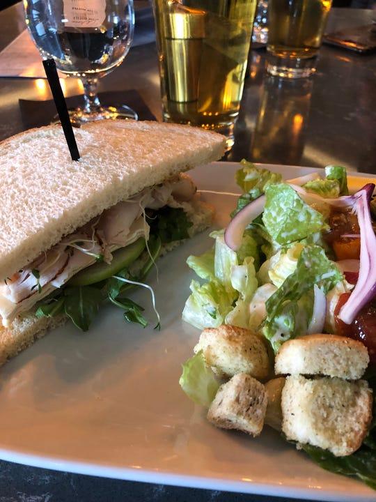 Turkey Brie sandwich at 22Ten Kitchen Cocktails.