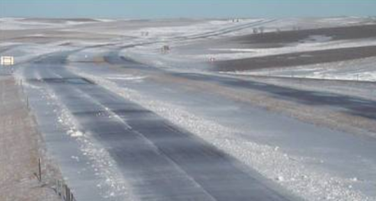 A screen capture of a road condition camera's view near Belvidere on Interstate 90 at about 5:30 p.m. on Thursday.
