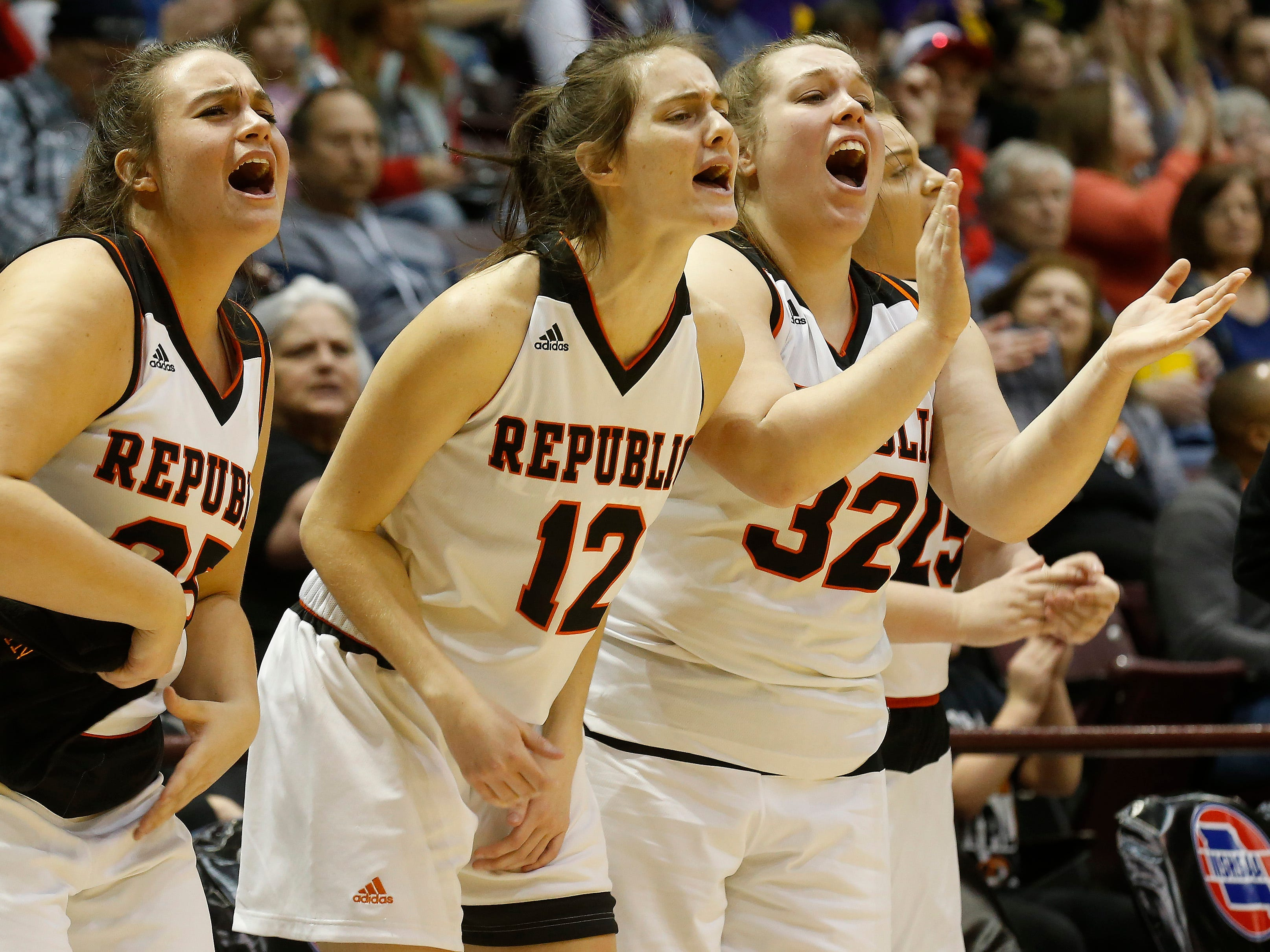 The Republic Tigers lost to the North Kansas City Hornets 42-29 in the Class 5 semi-final game at Hammons Student Center on Friday, March 15, 2019.