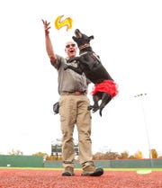 Russ and Diskey, the Dynamic Disc Duo (a Frisbee stunt dog team) will be at Sip the Ozarks.
