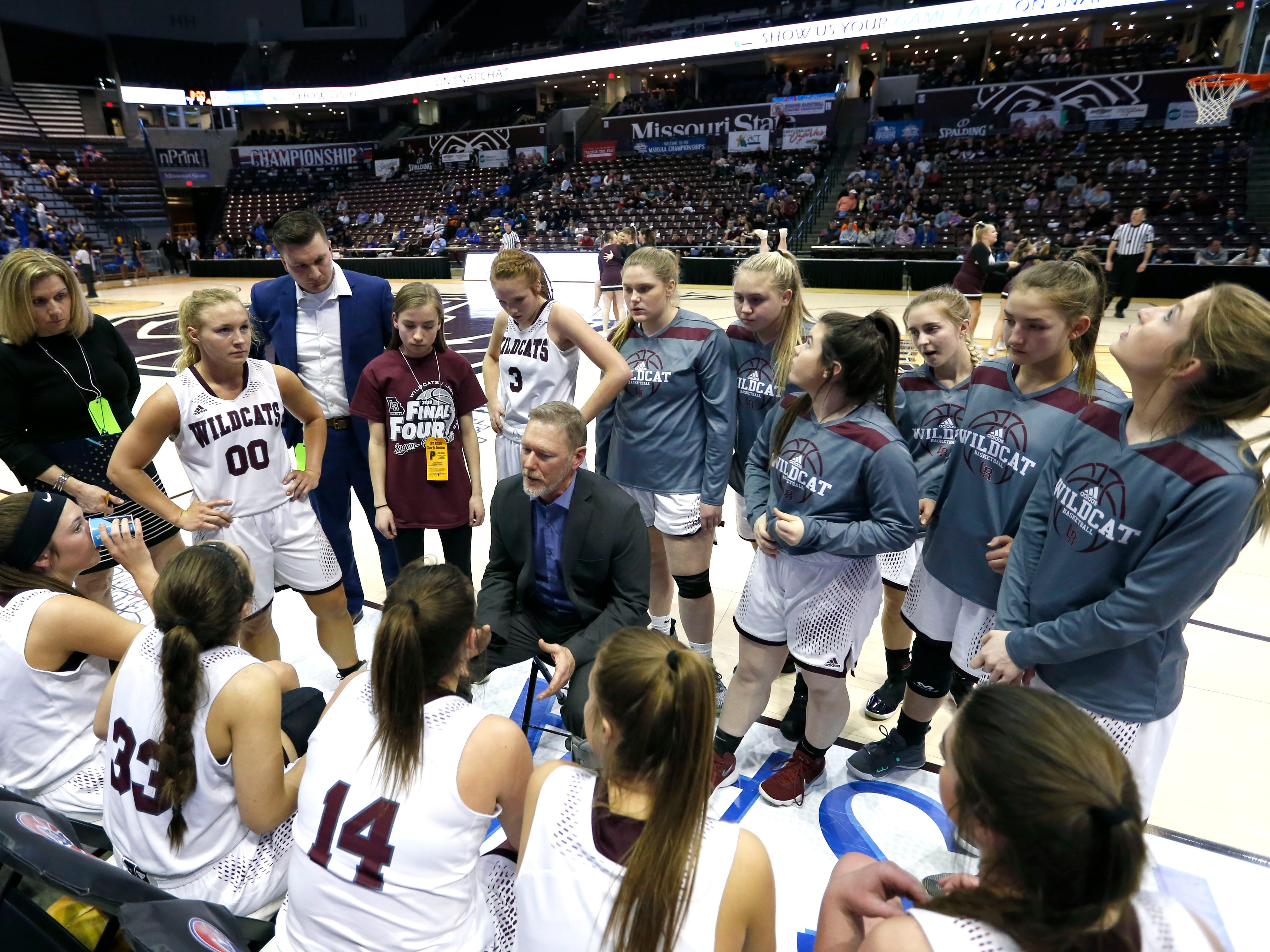 The Logan-Rogersville Lady Wildcats take on the Lincoln College Prep Lady Tigers in the Class 4 semifinal game at JQH Arena on Friday, March 15, 2019.