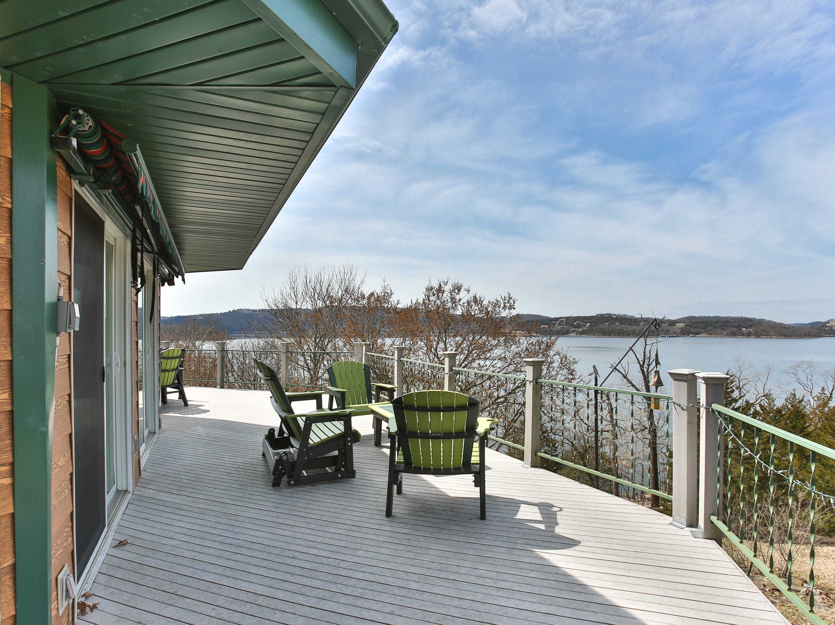 There's no such thing as a bad view from the Kembells' octagonal lake house.