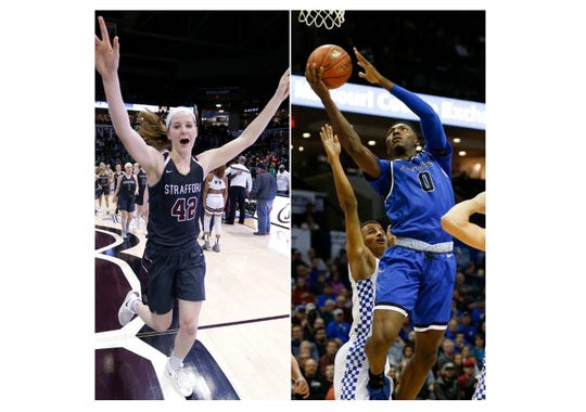 Hayley Frank and Aminu Mohammed were named Missouri Gatorade Players of the Year.