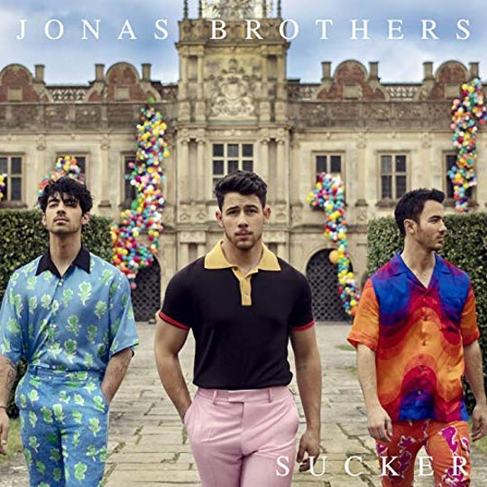 "On March 1, the Jonas Brothers released their comeback single ""Sucker,"" along with an extravagant music video starring the brothers and their wives."