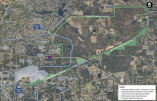 The Project Development & Environment Study is targeting the 5-mile stretch between Fleischmann Road to Centerville Road at Shamrock Street and the need for a new I-10 interchange.