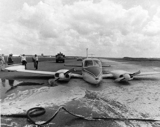 Cessna 320 photo taken by Horrie Culpepper after it had crashed at the Tallahassee Municipal Airport